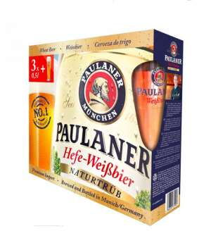 Paulaner set - 3 bottles + glass